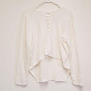 Lauren Conrad Sweater Hi Lo Ivory Soft Sz Large
